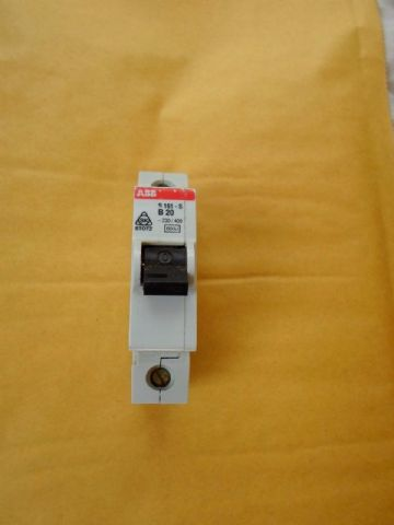 ABB S 161 S B20 20 AMP 6KA SINGLE POLE MCB CIRCUIT BREAKER.